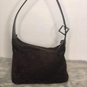 Bally Genuine Brown Suede Vintage Shoulder Bag